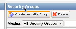 AWS Management Console create security group