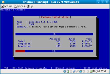 Installing TrixBox