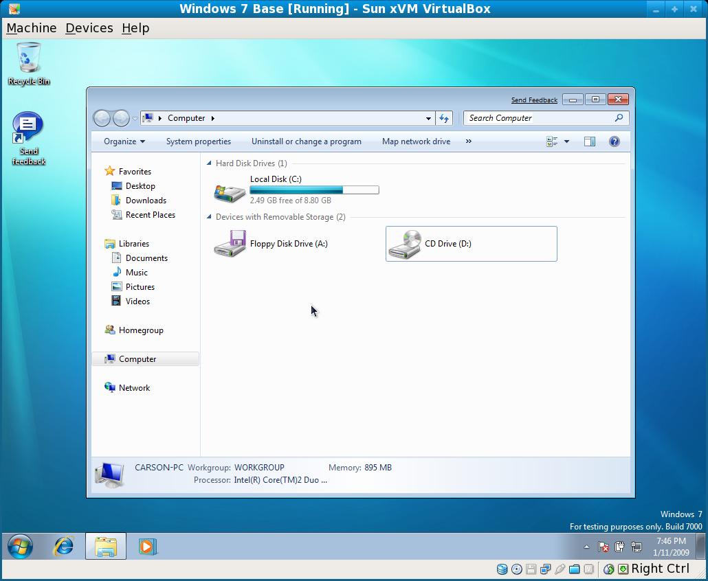 Installing windows 7 on virtualbox for Installing windows