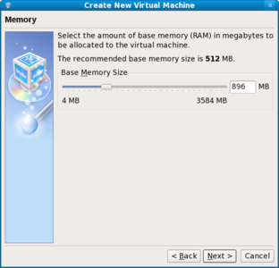 VirtualBox choose memory size