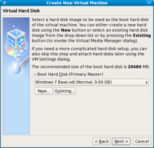 Windows 7 correctly sized VDI