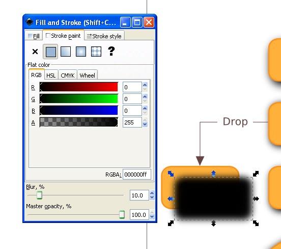 10 tips for creating good looking diagrams using inkscape next you want to change the color of the copy to black and set the blur to 10 or so ccuart Gallery