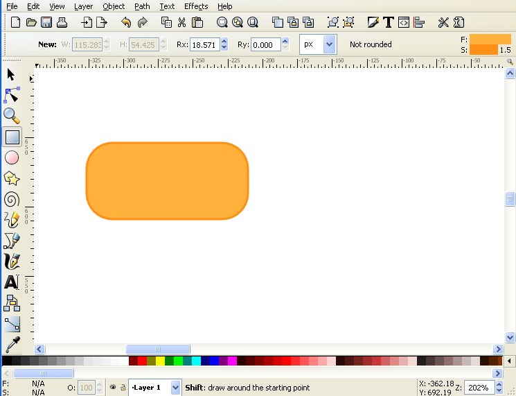 10 tips for creating good looking diagrams using inkscape first draw a square ccuart Choice Image