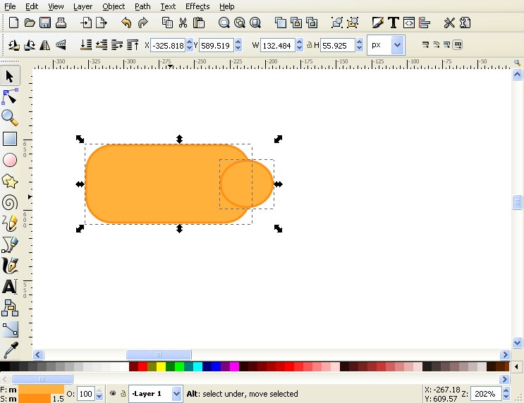 10 tips for creating good looking diagrams using inkscape now highlight both the circle and the square ccuart Image collections